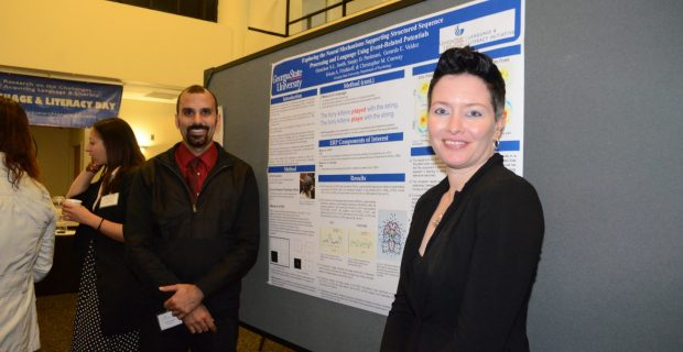 Undergraduate Fellow Sanjay Pardasani and Graduate Fellow Gretchen Smith